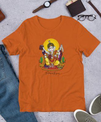 Camiseta Dios del Vino color naranja