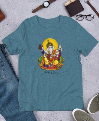 Camiseta Dios del Vino color azul jaspeado