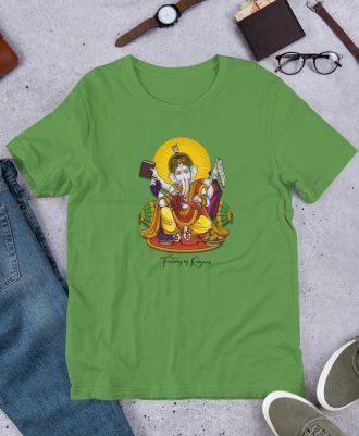Camiseta Dios del Vino color verde