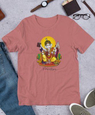 Camiseta Dios del Vino color salmón