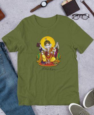 Camiseta Dios del Vino color verde aceituna