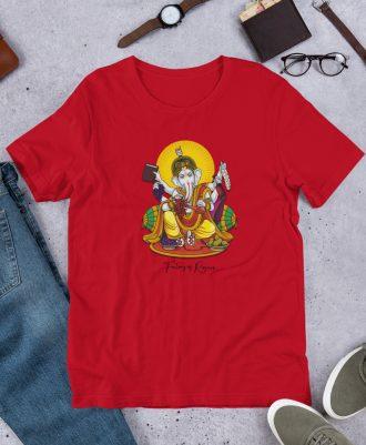 Camiseta Dios del Vino color rojo