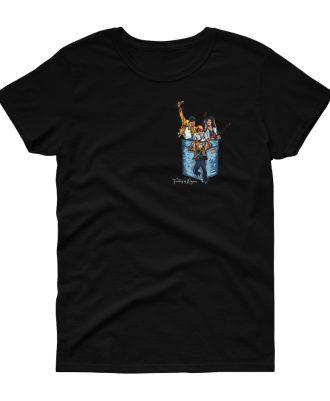 Camiseta negra mujer banda Queen