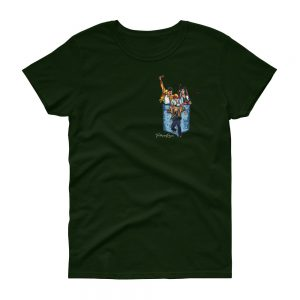 Camiseta verde oscuro mujer banda Queen