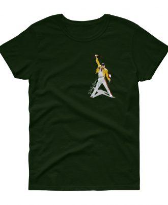 Camiseta verde mujer Freddie Mercury