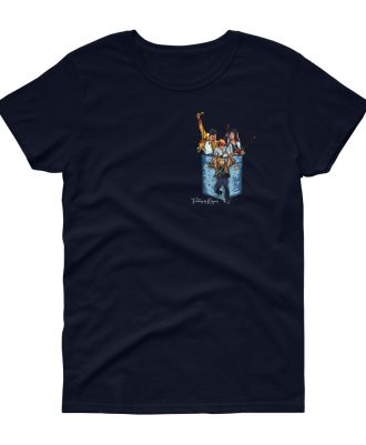 Camiseta azul marino mujer banda Queen