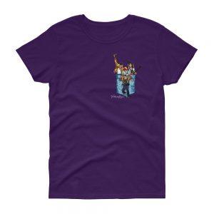 Camiseta violeta mujer banda Queen