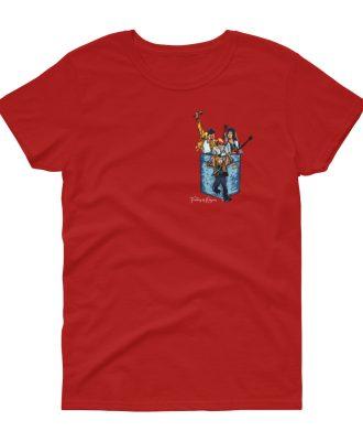 Camiseta roja mujer banda Queen
