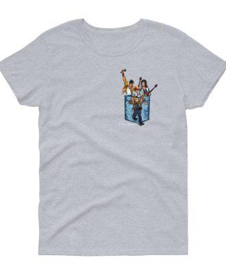 Camisetas mujer gris deportivo banda Queen