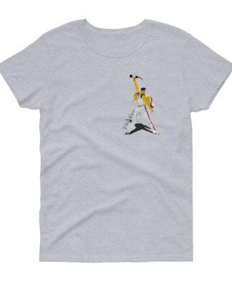Camiseta gris deportivo mujer Freddie Mercury