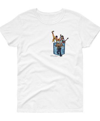 Camisetas mujer color blanco banda Queen