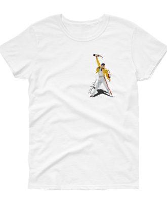 Camiseta blanca mujer Freddie Mercury