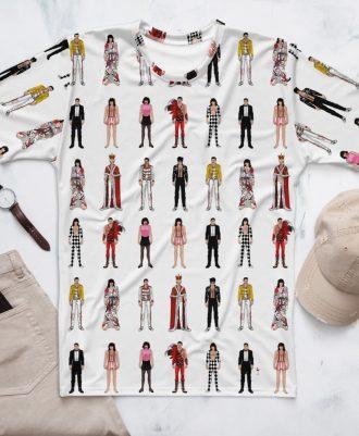 Camisetas con los estilos de Freddie Mercury