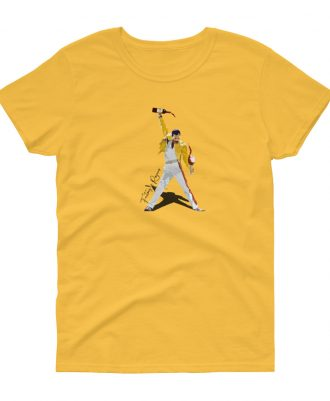 Camiseta amarilla para mujer con Freddie Mercury