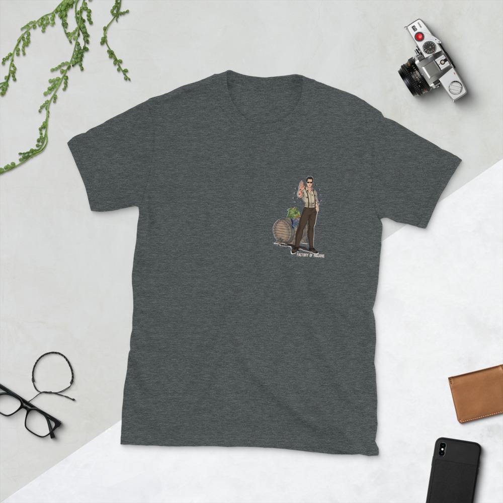 Camiseta gris oscuro con keanu Reeves