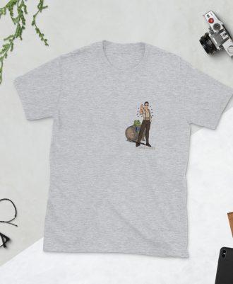 Camiseta gris deportivo Keanu Reeves