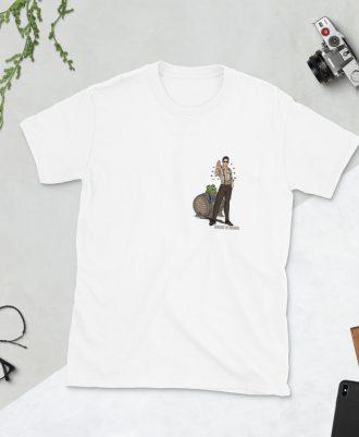 Camiseta blanca deportivo Keanu Reeves