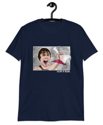 Camiseta azul marino sostenible película Psicosis