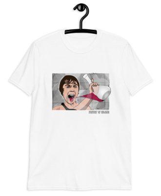 Camiseta blanca sostenible película Psicosis