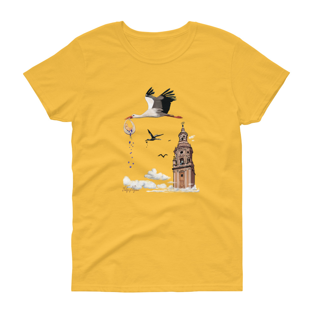 Camiseta amarilla para mujer