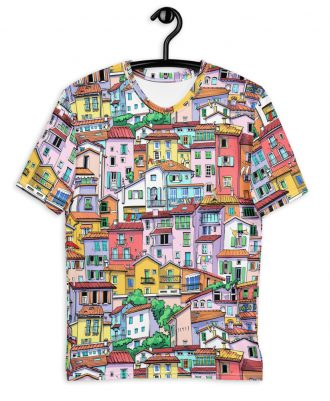 Camisetas con casitas de colores