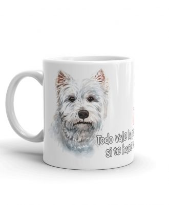 tazas brillantes con tu mascota