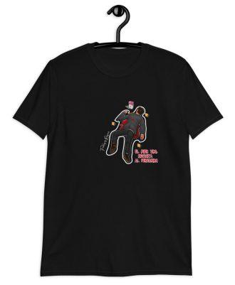 Camiseta negra el peregrino