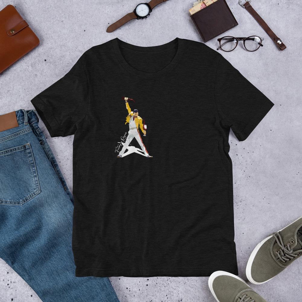 Camiseta negra premium con Freddie Mercury