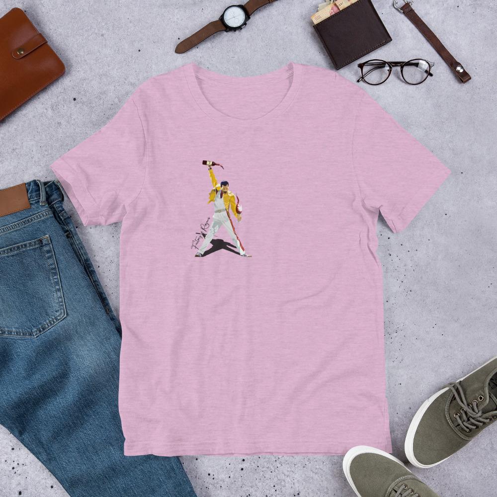 Camiseta rosa premium con Freddie Mercury