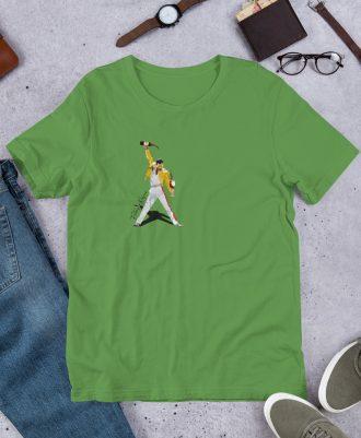 Camiseta verde premium con Freddie Mercury