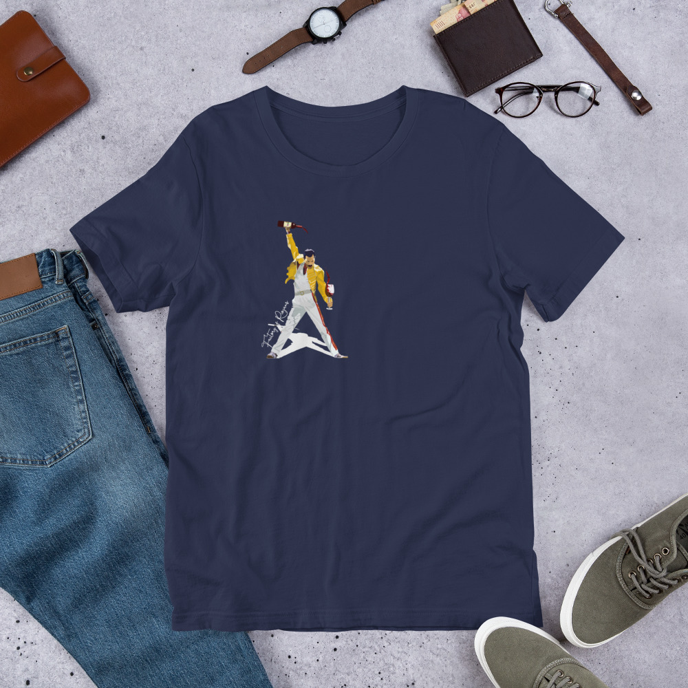 Camiseta malva oscuro premium con Freddie Mercury