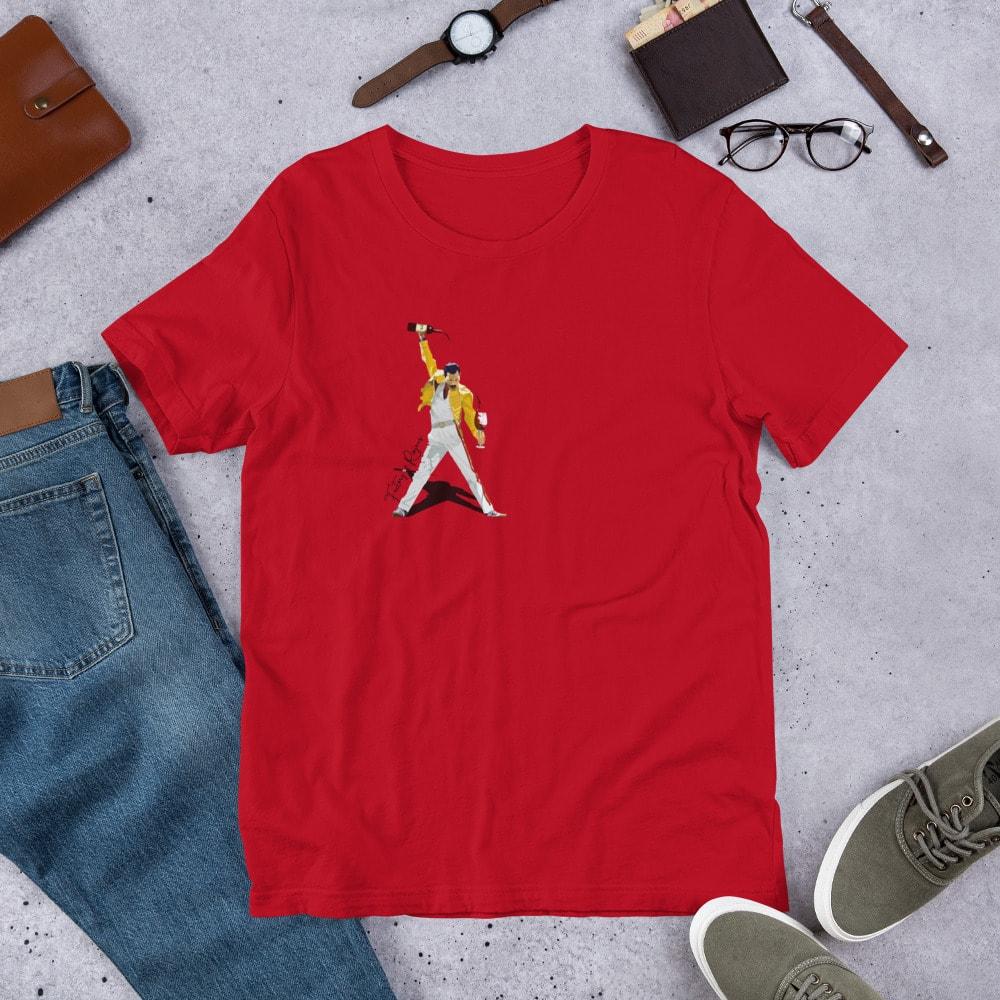 Camiseta roja premium con Freddie Mercury