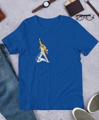 Camiseta azul Freddie Mercury