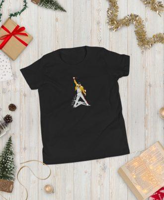 Camiseta negra para adolescente Freddie Mercury