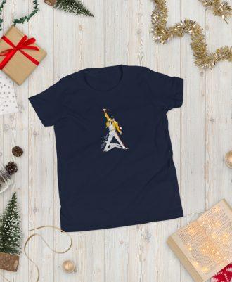 Camiseta azul marino para adolescente Freddie Mercury