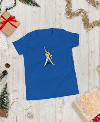 Camiseta azul para adolescente Freddie Mercury