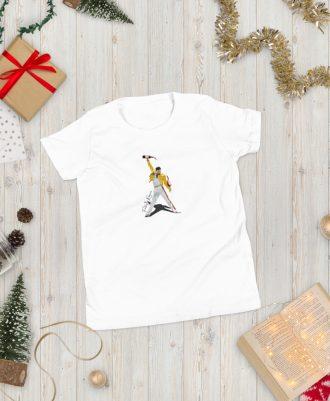 Camiseta blanca para adolescente Freddie Mercury
